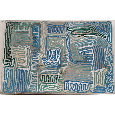Abstract Stretched Canvas Painting