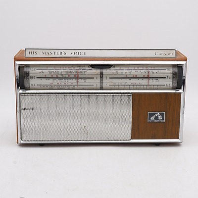 His Master's Voice Consort Portable Radio