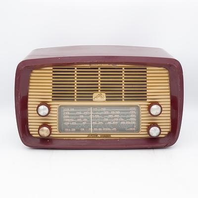 His Master's Voice Nipper Valve Radio