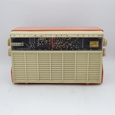 His Master's Voice Little Nipper Super 5 Model 65-54 Valve Radio
