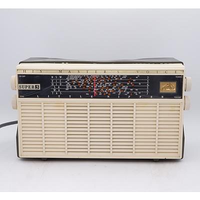His Master's Voice Super 5 Valve Radio