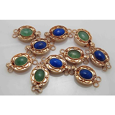 Gem-set Pearl Clasps - Gold plated