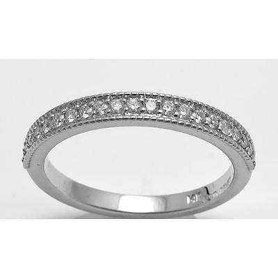 14ct White Gold Diamond Ring