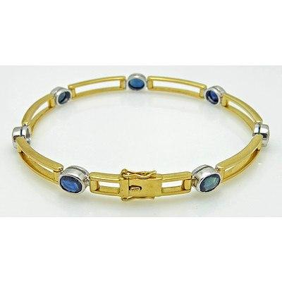 18ct Gold Sapphire Bracelet