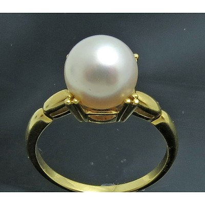 Mikimoto 18ct Gold Pearl Ring