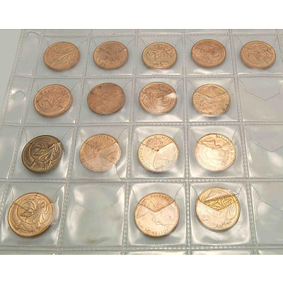 Coin Collection In 4 Page Album