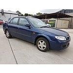 10/2001 Mazda 323 Protege  4d Sedan Blue 1.6L