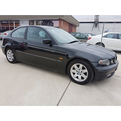 11/2002 BMW 318ti E46 3d Hatchback Black 2.0L