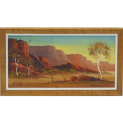 Henk Guth (1921-2003) MacDonnell Ranges Oil on Board