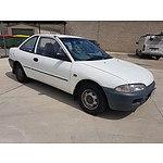 3/1994 Mitsubishi Lancer GL CC 2d Coupe White 1.5L