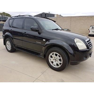 6/2006 Ssangyong Rexton Rx270 Sports Y200 MY07 4d Wagon Black 2.7L
