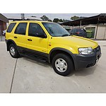 11/2001 Ford Escape XLS BA 4d Wagon Sunshine Yellow 3.0L
