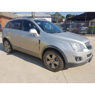 1/2012 Holden Captiva 5 (4x4) CG SERIES II 4d Wagon Silver 2.2L