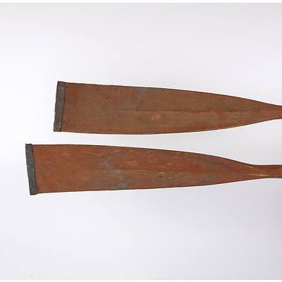 Pair of Vintage Oars