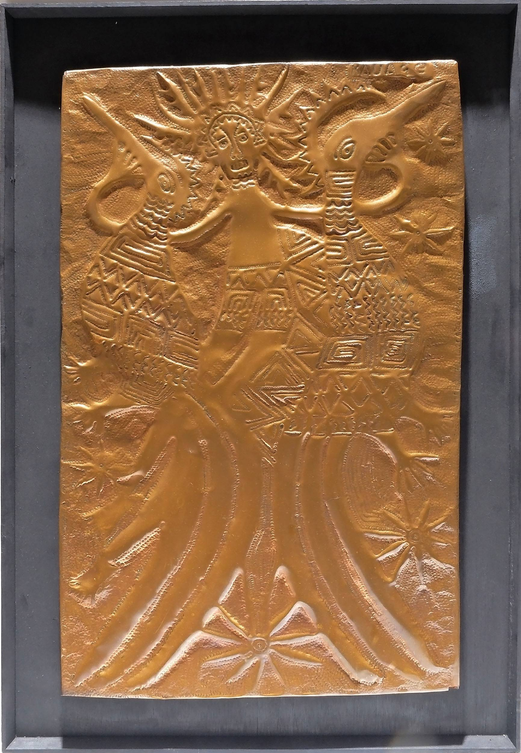 'Mathias Kauage OBE (Papua New Guinea 1944-2003) Untitled, Repousse Copper'