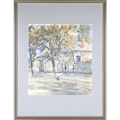 Gordon Speary (1914-1999) Street Scene 1945, Watercolour