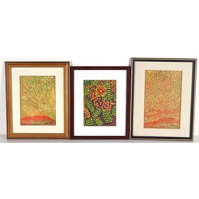 Joe Danua (Belgium Australia 1935-) Five Original Paintings
