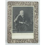 Sterling Silver Framed Signed Photograph of Queen Victoria 1900 Charles Henry Dumenil London 1897