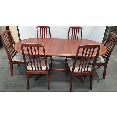 Maple Seven Piece Extension Dining Setting