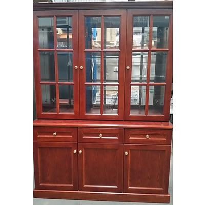 Cherry Veneer Buffet and Hutch