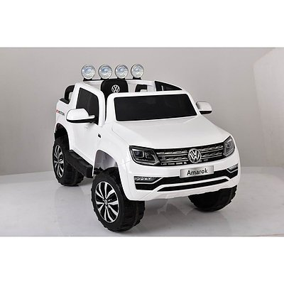Amazing Amarok in miniature! A child's Electric Ride-On Volkswagen Amarok - colour white