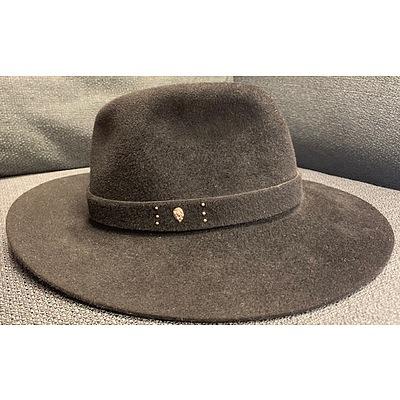 Eisa black hat designed by Helen Kaminski