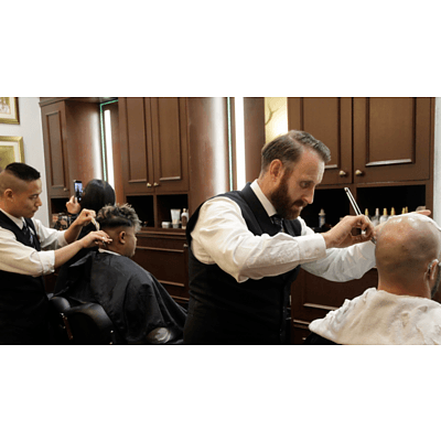 Traditional Hot Towel Wet Shave & Royal Haircut I