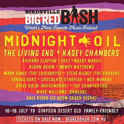 "Birdsville ""Big Red Bash"" Experience featuring Midnight Oil"