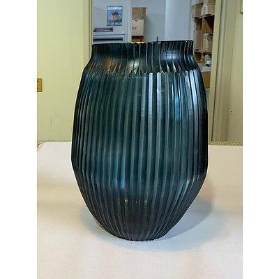Brian Tunks Medium cut-glass vase