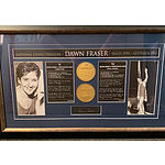 Dawn Fraser - Australian Living Treasure Signed and Framed heritage piece