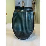 Brian Tunks Medium cut-glass vase