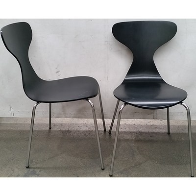Cafe Chairs - Lot of Six