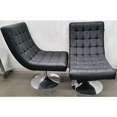 Contemporary Swivel Chairs - Lot of Two