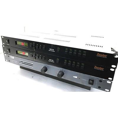 Zandar MX16 Multiviewers & Talia SA-140 Power Amplifier - Lot of 3