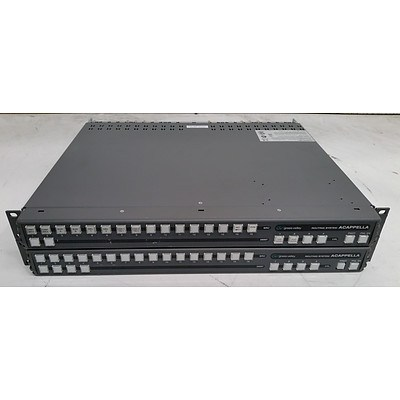Grass Valley ACAPPELLA 16x2 & 16x4 Routing Systems - Lot of Two
