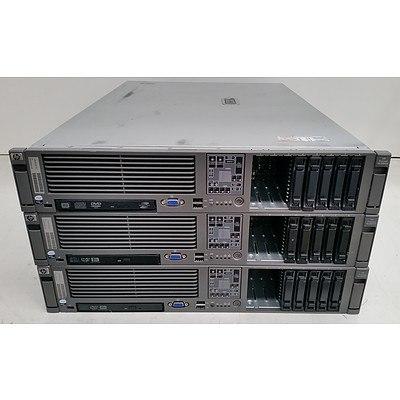 HP ProLiant DL380 G5 Xeon CPU 2RU Servers - Lot of Three