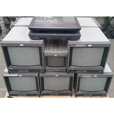 Bulk Lot of Assorted Sony Video & ELO Monitors