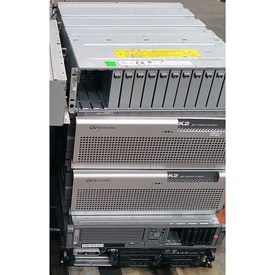 Bulk Lot of Assorted IT Equipment - Servers, Media Clients and Storage Arrays