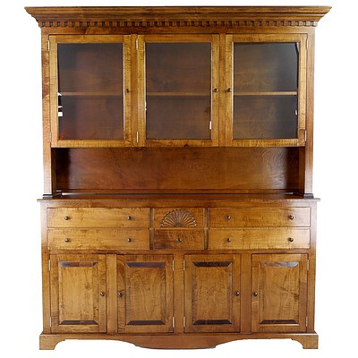 American Handcrafted Fruitwood Hutch