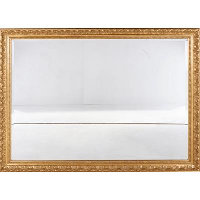 Large Gilt Framed Bevelled Glass Mirror
