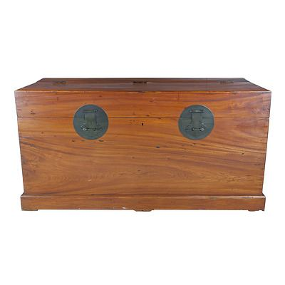 Enormous Chinese Camphorwood Chest Late 20th Century