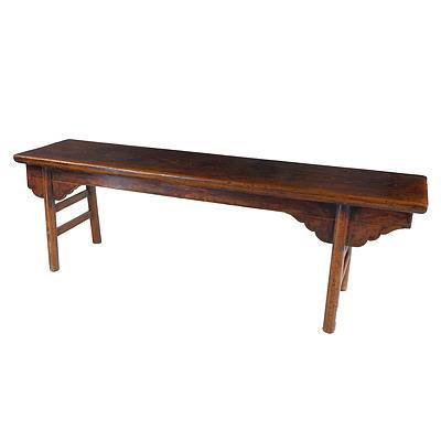 Chinese Elm Provincial Style Bench