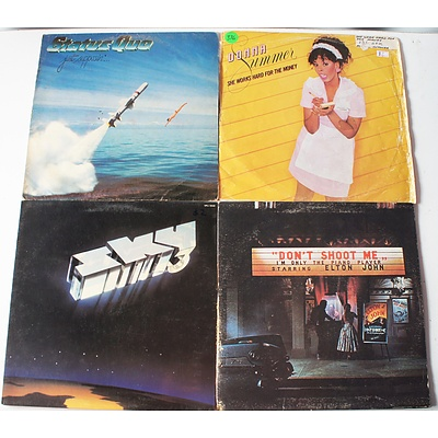 Lot of Approx 160 Vinyl Records Including Donna Summer, Sky, Status Quo, Billy Joel, and more