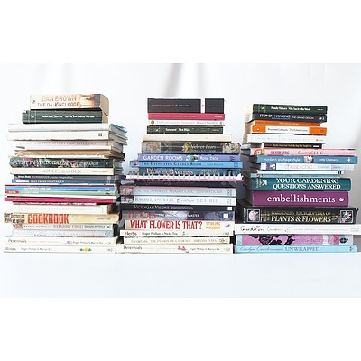 Large Assorted Lot of Books Including Cook Books, Dogs and More