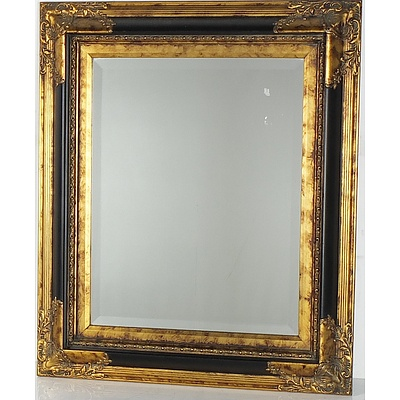 Antique Style Giltwood Beveled Glass Mirror