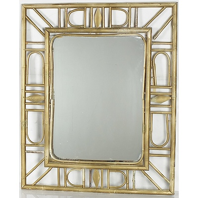 Two Contemporary Framed Mirrors