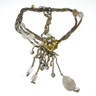 Fancy Necklace with Angelhair Quartz