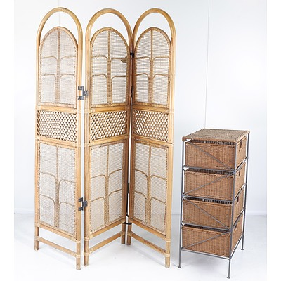 Privacy Screen and Storage Rack