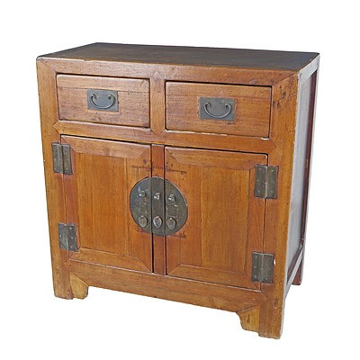 Chinese Pine Cabinet, Late 20th Century