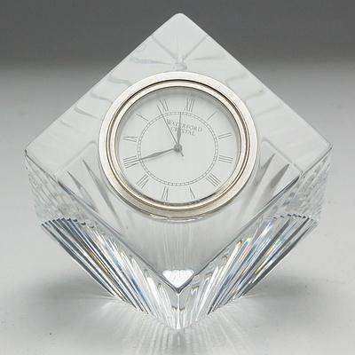 Waterford Cut Crystal Desk Clock